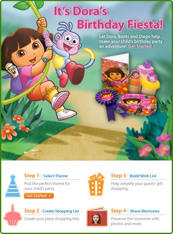 Dora Birthday at walmart